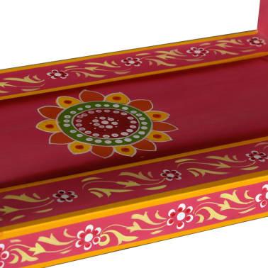 vidaXL Buffet avec tiroirs Bois massif de manguier Peinture rose[8/11]
