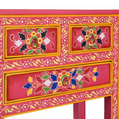 vidaXL Buffet avec tiroirs Bois massif de manguier Peinture rose[10/11]