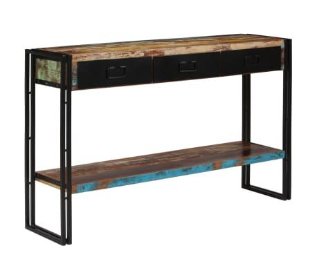 vidaXL Konzolový stolek z masivního recyklovaného dřeva 120x30x76 cm