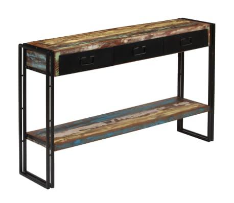 Acheter vidaxl table console bois de r cup ration massif 120 x 30 x 76 cm pas cher - Console de recuperation windows 7 ...