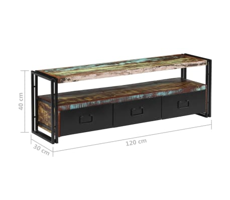 "vidaXL TV Cabinet Solid Reclaimed Wood 47.2""x11.8""x15.7""[12/12]"