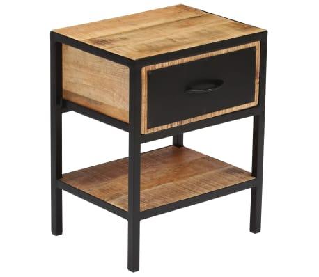 vidaXL Table de chevet Bois de manguier massif 40 x 30 x 50 cm[13/13]