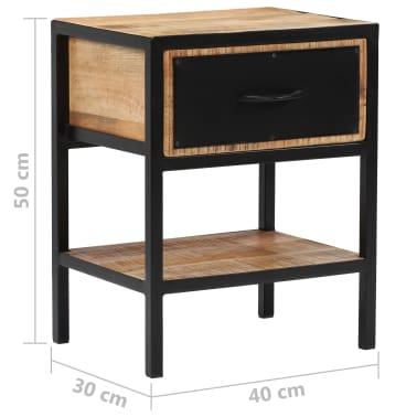 vidaXL Table de chevet Bois de manguier massif 40 x 30 x 50 cm[6/13]