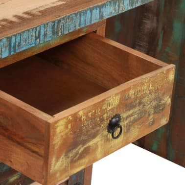 "vidaXL Pedestal Desk Solid Reclaimed Wood 55.1""x19.6""x30.3""[4/14]"