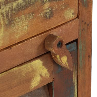 "vidaXL Pedestal Desk Solid Reclaimed Wood 55.1""x19.6""x30.3""[6/14]"
