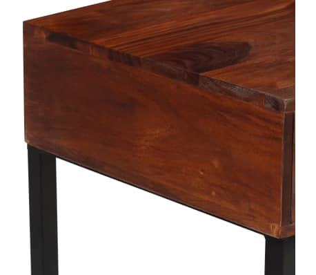 "vidaXL Desk Solid Sheesham Wood and Real Leather 46""x19.6""x29.9""[8/16]"