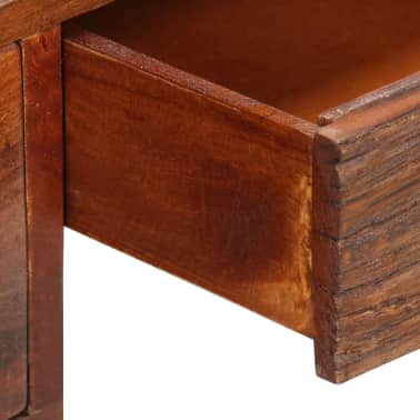 "vidaXL Desk Solid Sheesham Wood and Real Leather 46""x19.6""x29.9""[10/16]"