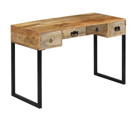 vidaXL Desk Solid Mango Wood and Real Leather 117x50x76 cm[16/16]