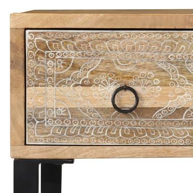 vidaXL Desk Solid Mango Wood and Real Leather 117x50x76 cm[6/16]
