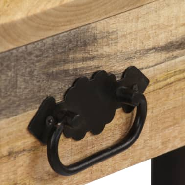 vidaXL Desk Solid Mango Wood and Real Leather 117x50x76 cm[7/16]