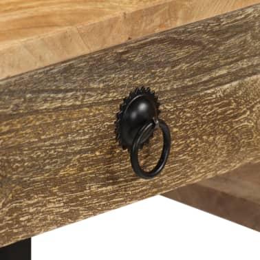 vidaXL Desk Solid Mango Wood and Real Leather 117x50x76 cm[8/16]