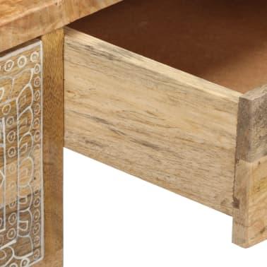 vidaXL Desk Solid Mango Wood and Real Leather 117x50x76 cm[10/16]