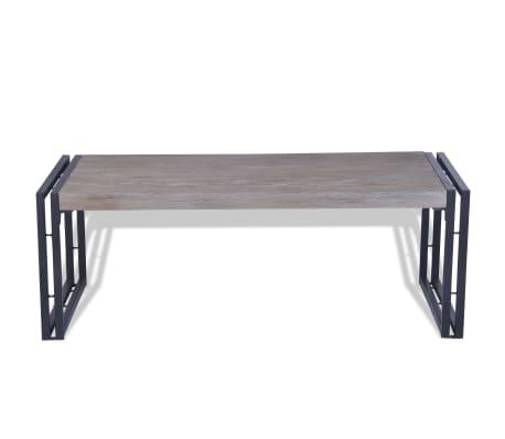 vidaXL Kavos staliukas, tikmedis, 100x50x35cm, pilkas[4/8]