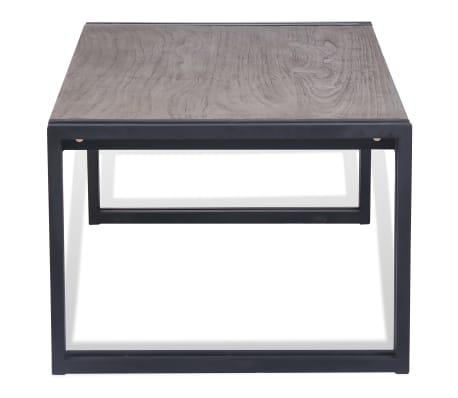 vidaXL Kavos staliukas, tikmedis, 100x50x35cm, pilkas[5/8]