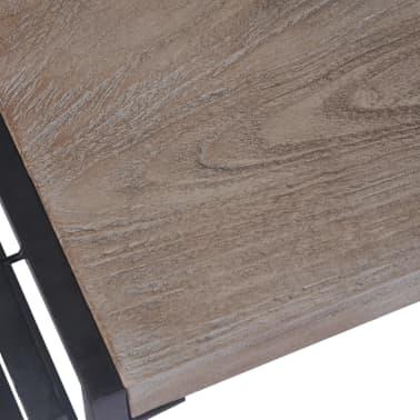 vidaXL Kavos staliukas, tikmedis, 100x50x35cm, pilkas[6/8]