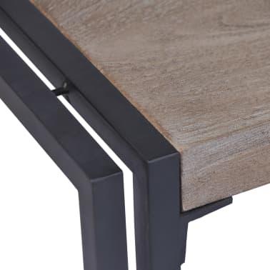 vidaXL Kavos staliukas, tikmedis, 100x50x35cm, pilkas[7/8]