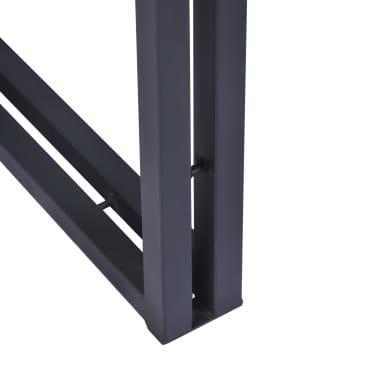 vidaXL Kavos staliukas, tikmedis, 100x50x35cm, pilkas[8/8]