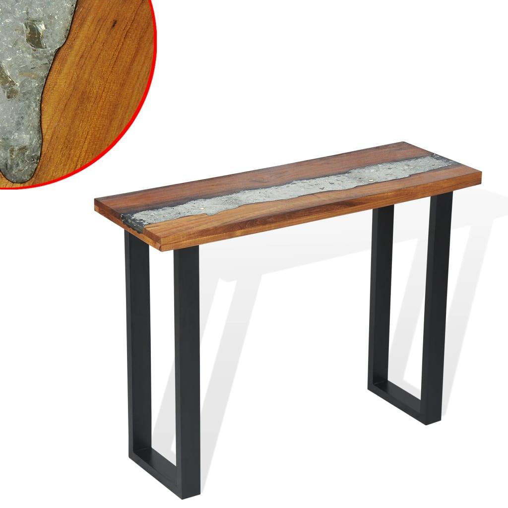 vidaXL Konzolni Stol od Tikovine 100x35x75 cm