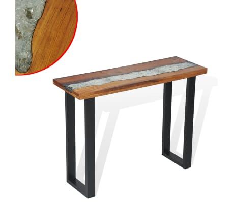 vidaXL Odkládací stolek, teak, 100x35x75 cm