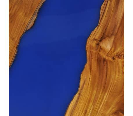 vidaXL Stolik kawowy z drewna tekowego i żywicy, okrągły, 60 x 40 cm[11/12]