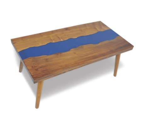 vidaXL Coffee Table Teak Resin 100x50x40 cm