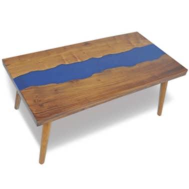 vidaXL Kavos staliukas, tikmedis ir derva, 100x50x40cm[1/13]