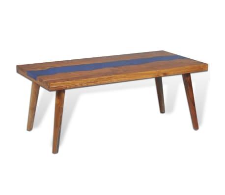 vidaXL Kavos staliukas, tikmedis ir derva, 100x50x40cm[5/13]
