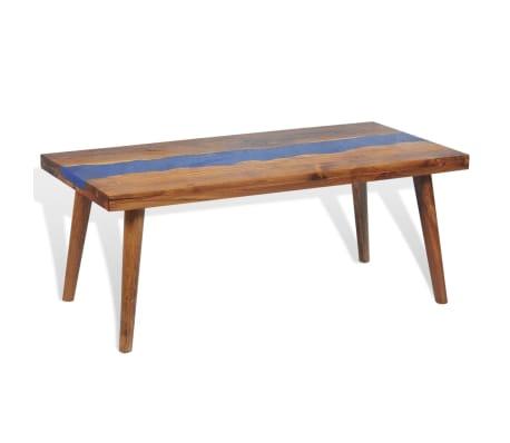 vidaXL Kavos staliukas, tikmedis ir derva, 100x50x40cm[7/13]