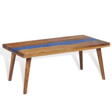 vidaXL Kavos staliukas, tikmedis ir derva, 100x50x40cm[4/13]