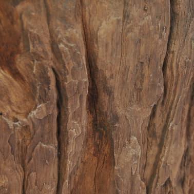 vidaXL Kavos staliukas iš tikmedžio ir stiklo, 50x40cm[9/10]