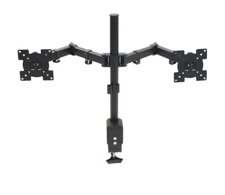 "vidaXL Monitor Desk Mount 32"" Double Arms Height Adjustable"