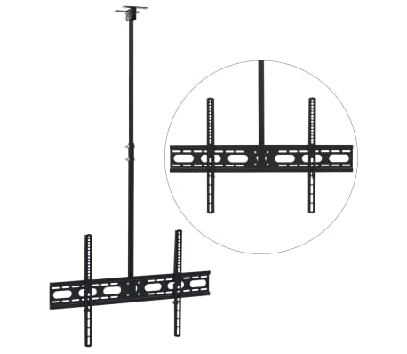 "vidaXL Ceiling Mounted TV Bracket 37""-70"" Height Adjustable"