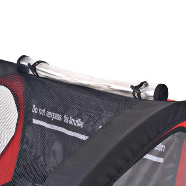 vidaxl kinder fahrradanh nger rot und schwarz 30 kg. Black Bedroom Furniture Sets. Home Design Ideas