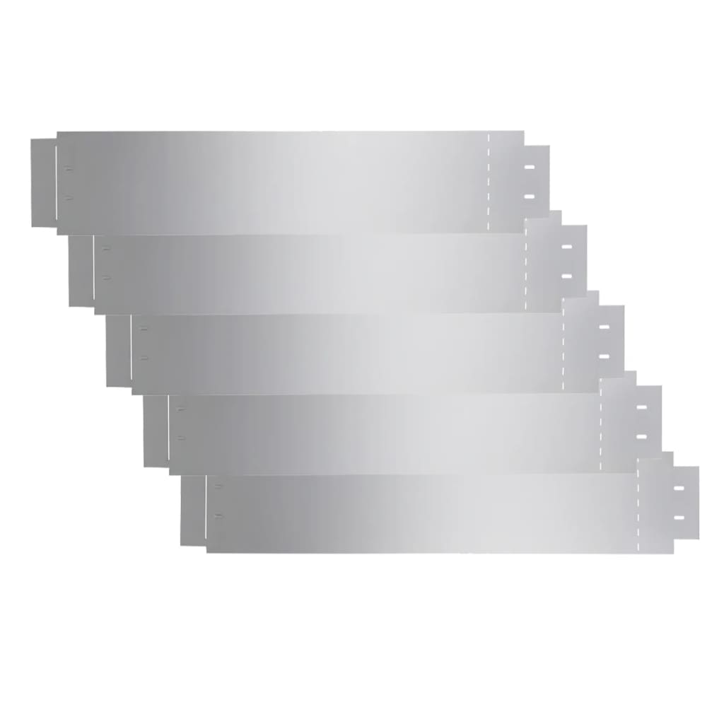 Afbeelding van vidaXL Grasboorden 100x20 cm gegalvaniseerd staal 5 st