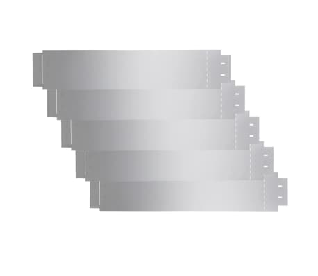 vidaXL Rasenzäune 5 Stk. Verzinkter Stahl 100x20 cm