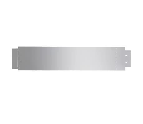 vidaXL Rasenzäune 5 Stk. Verzinkter Stahl 100x20 cm[4/9]