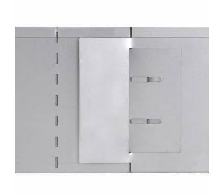 vidaXL Rasenzäune 5 Stk. Verzinkter Stahl 100x20 cm[6/9]