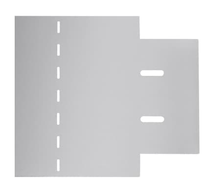 vidaXL Rasenzäune 5 Stk. Verzinkter Stahl 100x20 cm[7/9]
