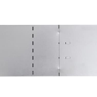 vidaXL Rasenzäune 5 Stk. Verzinkter Stahl 100x20 cm[8/9]