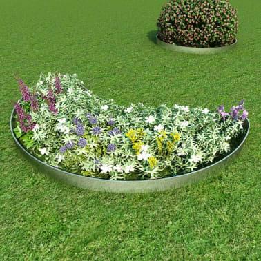 vidaXL Rasenzäune 5 Stk. Verzinkter Stahl 100x20 cm[9/9]