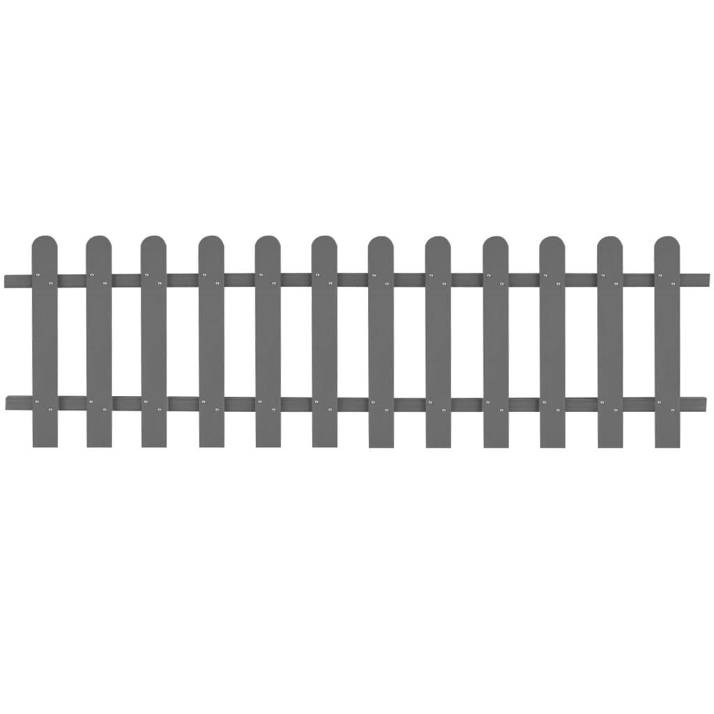 vidaXL Gard din șipci, gri, 200 x 60 cm, WPC poza vidaxl.ro