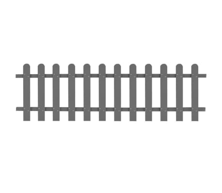 vidaXL Picket Fence WPC 200x60 cm
