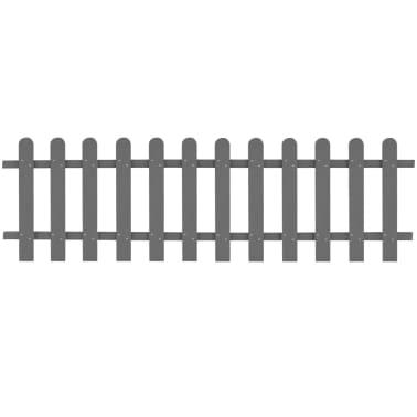 vidaXL WPC lesena ograja 200x60 cm siva[1/4]