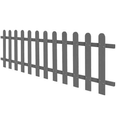 vidaXL WPC lesena ograja 200x60 cm siva[2/4]