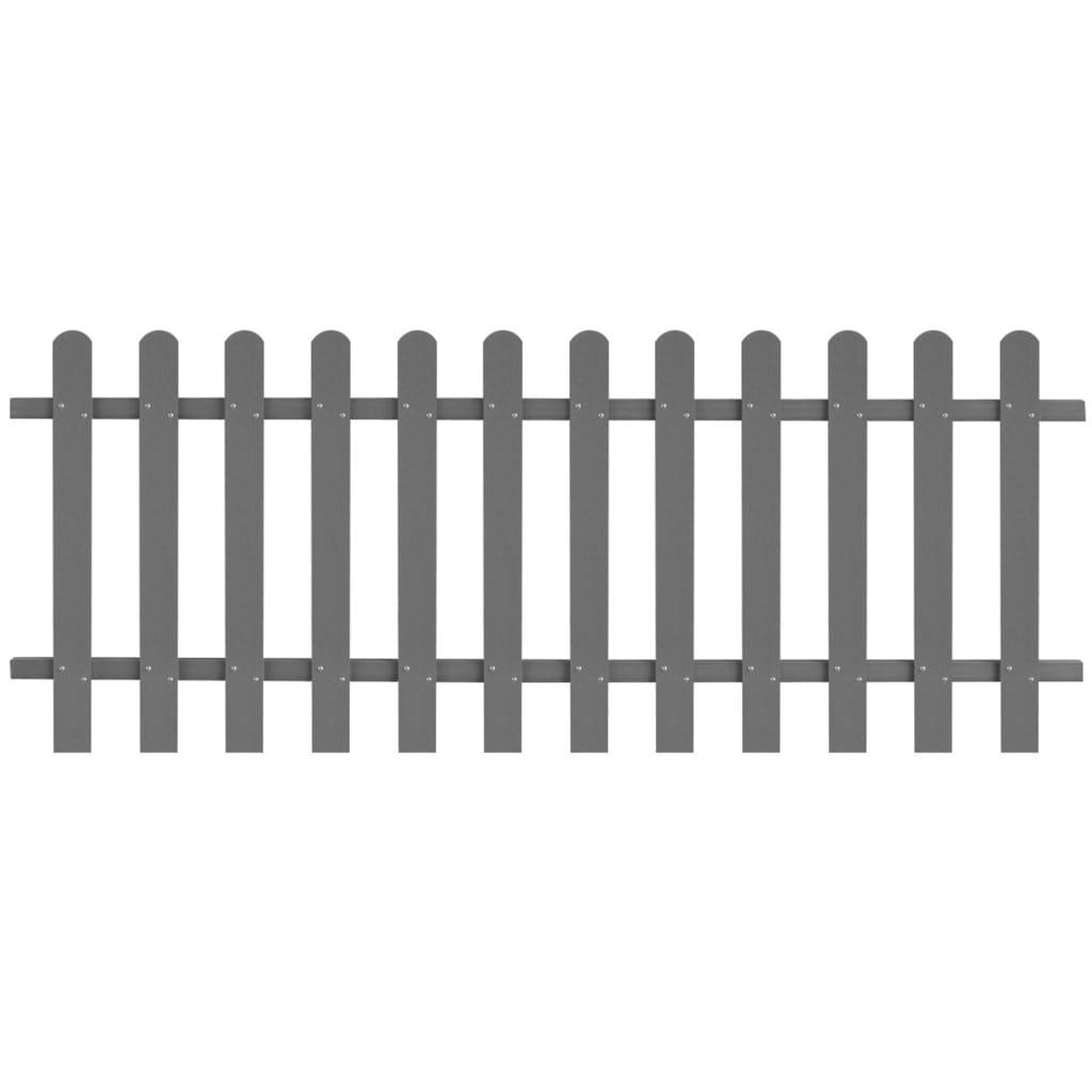 vidaXL Laťkový plot WPC 200 x 80 cm