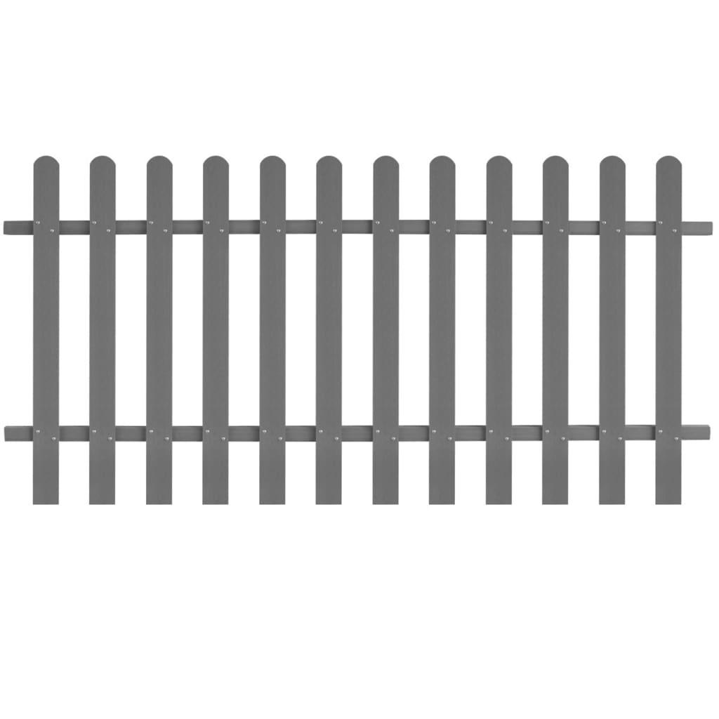 vidaXL Laťkový plot WPC 200 x 100 cm šedý