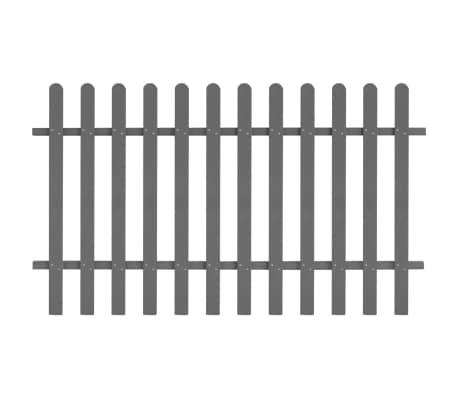 vidaXL Płot sztachetowy, WPC, 200x120 cm