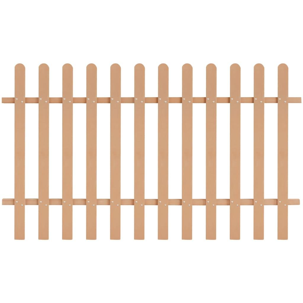 vidaXL Dřevoplastový laťkový plot, hnědý, 200x120 cm