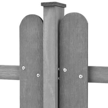 vidaXL Surenk. tvora su stulp., WPC, 3vnt., 6m ilg., 80cm aukš., pilka[3/4]