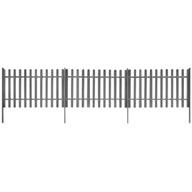 vidaXL Clôture à piquets avec poteaux 3 pcs WPC 600x100 cm[1/4]